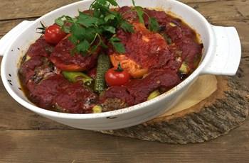 Fırında Domatesli Patlıcan Kebabı