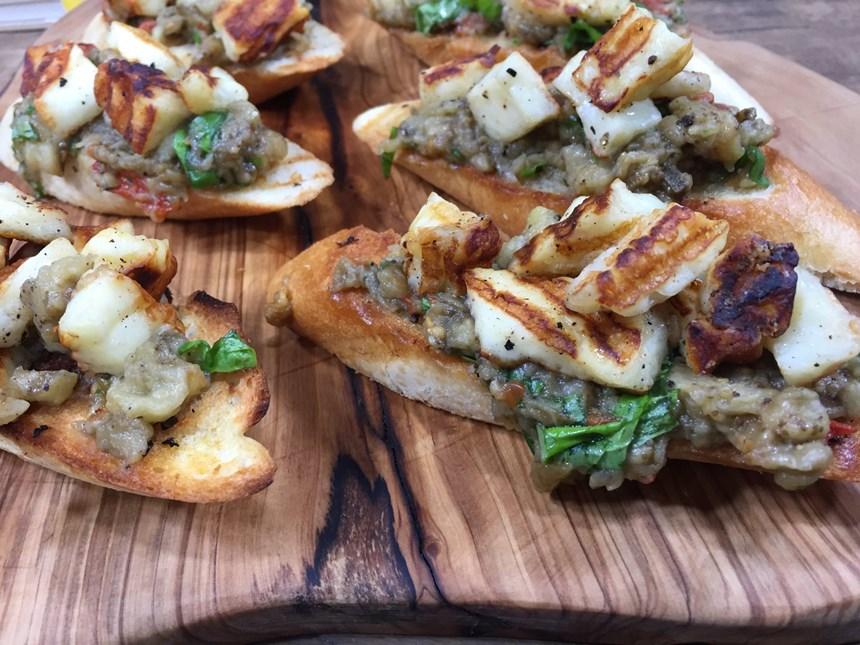 Patlıcanlı  Bruschetta