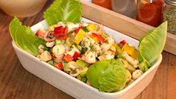 Ahtapot Ve Karides Salatası (Teke Salatası) Meze Sofrası
