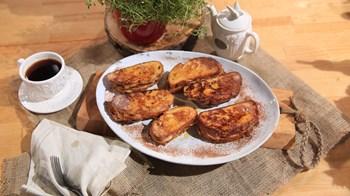 Arası Fıstık Ezmeli ve Muzlu  French Toast Tarifi