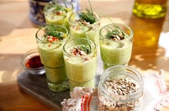 Avokado ve Salatalık Shotları
