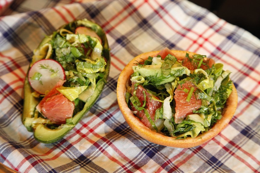 Avokadolu ve Greyfurtlu Yeşil Salata Tarifi