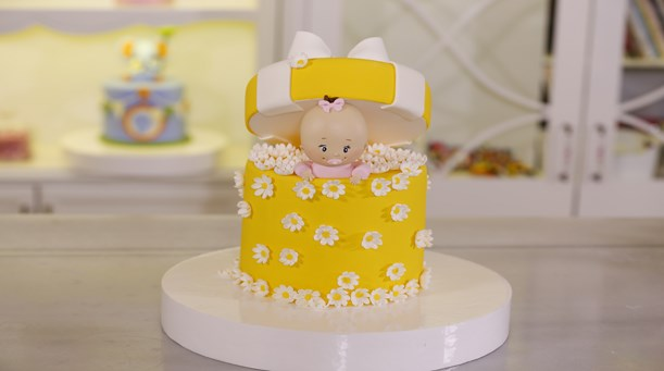 Bebekli Baby Shower Temalı Pasta
