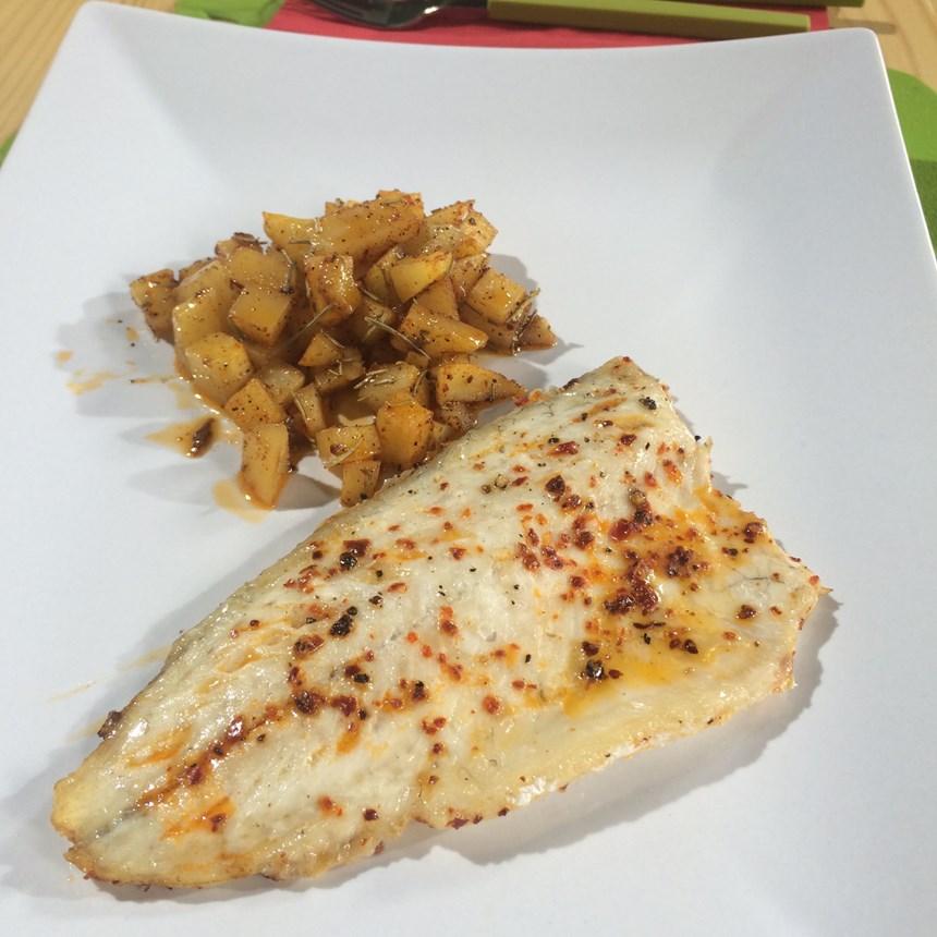 Baharatlı Patates ile Acılı Levrek Tarifi