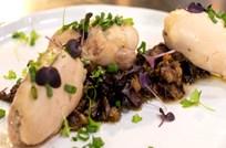 Balsamikli Patlıcan Püresi ; Piliç Sarma ile