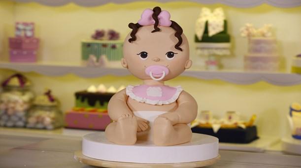 3 Boyutlu Bebek Temalı Pasta