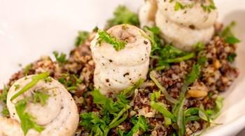 Bergamotta Poşe Edilmiş Dil Balığı ve Kinoa