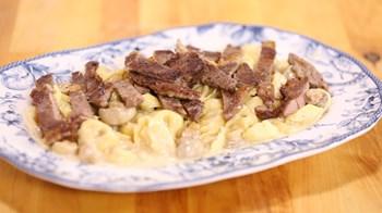 Biftekli Tortellini Alfredo