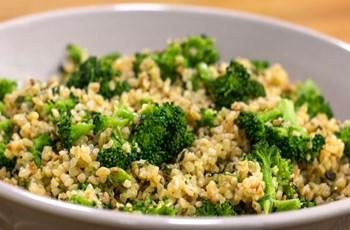 Brokolili Bulgur Pilavı