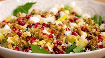 Cevizli ve Narlı Kış Salatası