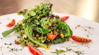 Cibes Otlu, Yabani Pirinçli, Maş Fasülyesi Salatası