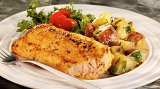 Sürk Peynirli, Sumaklı Domates Salatası ve Dil Balığı