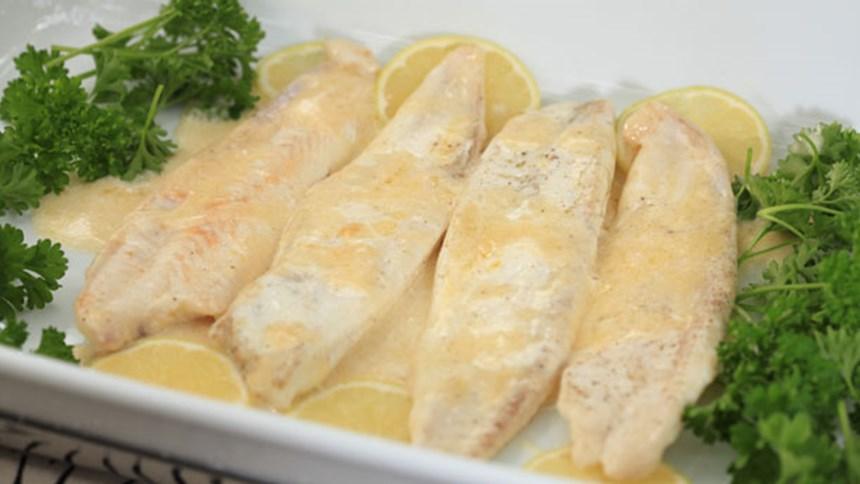 Dil Balığı Tereyağı Ve Limon Soslu