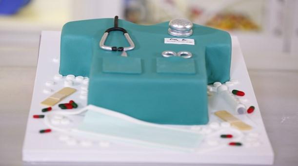 Doktor Önlüğü Temalı Pasta