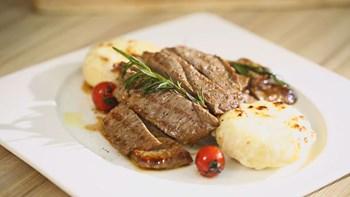 Enginar Graten Eşliğinde Biftek