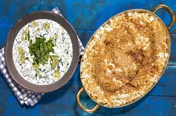 Ceviz ve Tulum Peynirli Erişte & Soğuk Ispanak Çorbası