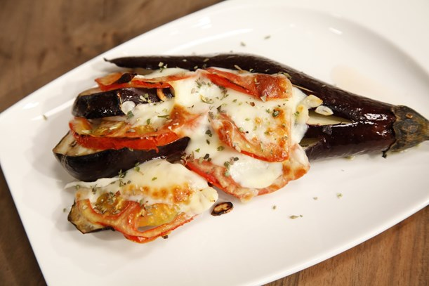 Fırında Akdeniz Patlıcanı