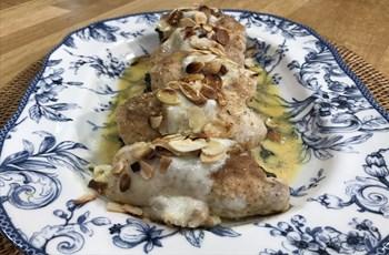 Fırında Bademli Tavuk Rulo