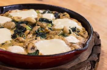 Fırında Mantarlı Omlet