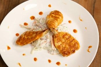 Havuçlu ve Kabaklı Coleslaw (Barbekülü Tavuk İle)