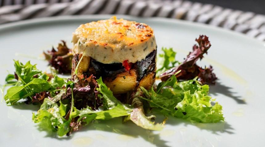 Ilık Keçi Peyniri ve Patlıcan