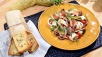Izgara Kalamarlı Rezene Salatası