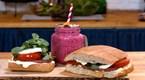 Kızarmış Jambonlu Sandviç & Vişneli Frozen