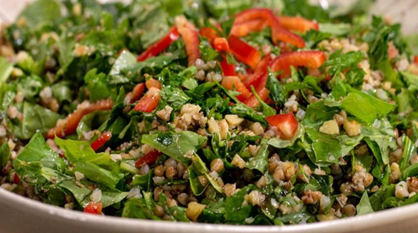 Karabuğday ve Rokalı Salata