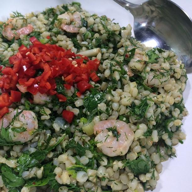 Karidesli Buğday Salatası Tarifi