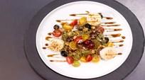 Taze Üzüm,  Bulgur, Keçi Peyniri  Salatası