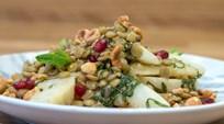 Kereviz, Mercimek ve Fındık Salatası