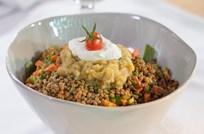 Közlenmiş Patlıcanlı Mercimek Salatası