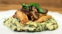 Mantar ve Limonlu Tavuk, Yeşillikli Patates