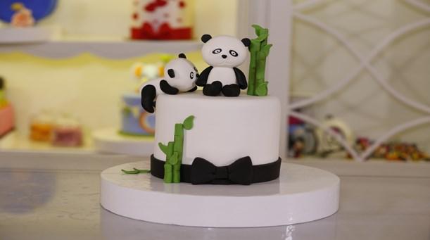 Panda Temalı Pasta