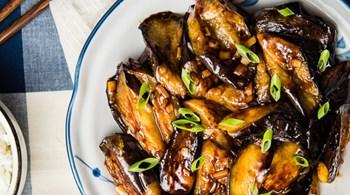 Pekmezli-Soya Soslu Tavuk Baget ve Tahinli Patlıcan