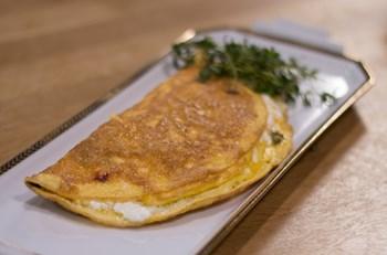 Peynirli Taze Kekikli Omlet