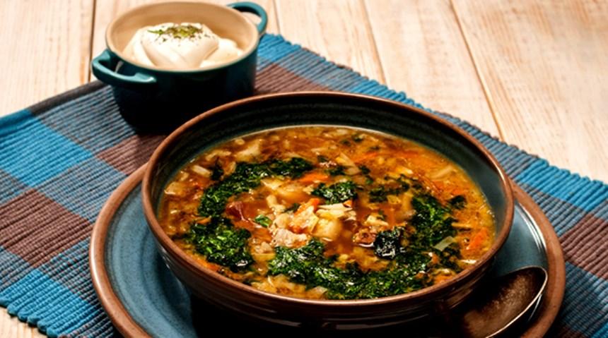Porçini ve Sauerkraut Çorbası