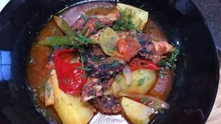 Pulpo Gallega (Patatesli ve Biberli Ahtapot)