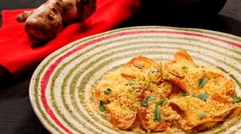 Rende Botargalı  (Kefal Havyarı) Patates ve  Yer Elması Cipsleri