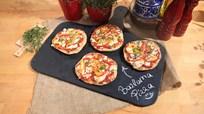 Renkli Biberli ve Keçi Peynirli Bazlama Pizza Tarifi