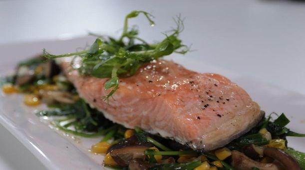 Sebze Soteli Somon Balığı