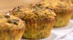 Sebzeli ve Peynirli Muffin