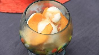 Şeftali ve Safranlı Dondurma