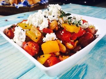 Sıcak Cherry Domates Salatası Tarifi