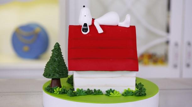 Snoopy Temalı Pasta
