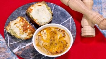Süzme Mercimek Çorbası & Peynirli Patatesli Ekmekler