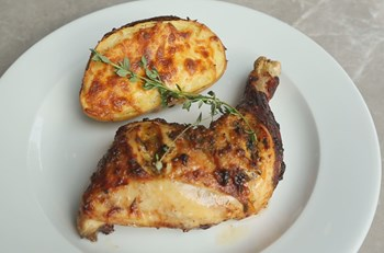 Taze Baharat Marineli Fırında Tavuk But