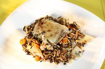 Yabani Pirinçli Fırında Tavuk